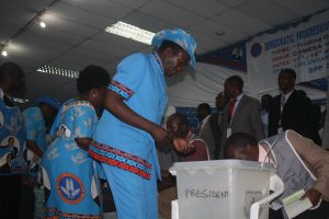 Ntaba, a new elected DPP vice president captured while voting a secret ballot