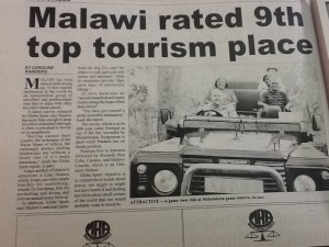 Click on the image to enlarge Malawi rated 9th top tourism place
