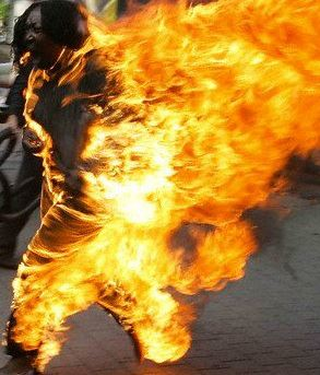 Malawian woman burn herself due to conflicts with husband Malawi Police in eastern city of Zombahave confirmed that a woman on Tuesday doused her clothes with flammable liquid and set herself on fireafter picking a quarrel with her husband on family issues. The woman is severelyinjured but circumstances leadingto the self-immolationare not clear .