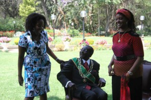 The Mugabes with daughter, Bona