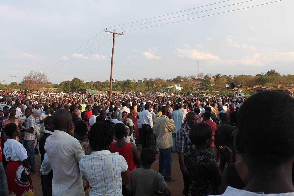 Part of the crowd at Chakwera's Masintha rally