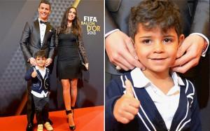 Ronaldo and family at the Ballon d'Or presentation