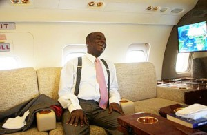 Oyedepo inside one of his private jets