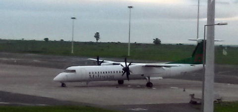 The Malawian airline pictured at KIA 31/1/2014
