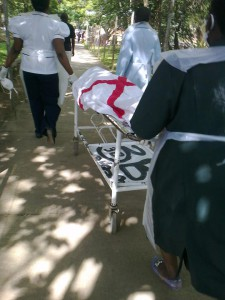 Body of Former Miss Malawi, Faith Chibale being taken to College of Medicine