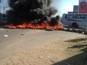 burned tires-Mangochi