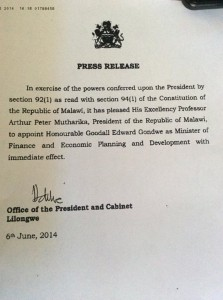 The Press Release
