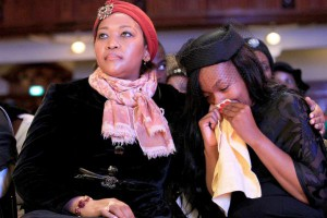 SA first lady Tobeka Madiba Zuma with Mandisa Meyiwa
