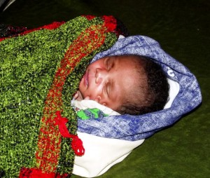Newly born baby who was dumped in a toilet