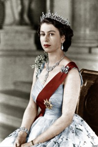 UNSPECIFIED :  Queen Elizabeth II of England (b 1926, daughter of George VI) here in february 1952. This is an official picture from the time when she acceded to the throne. Colorized document.  (Photo by Apic/Getty Images)