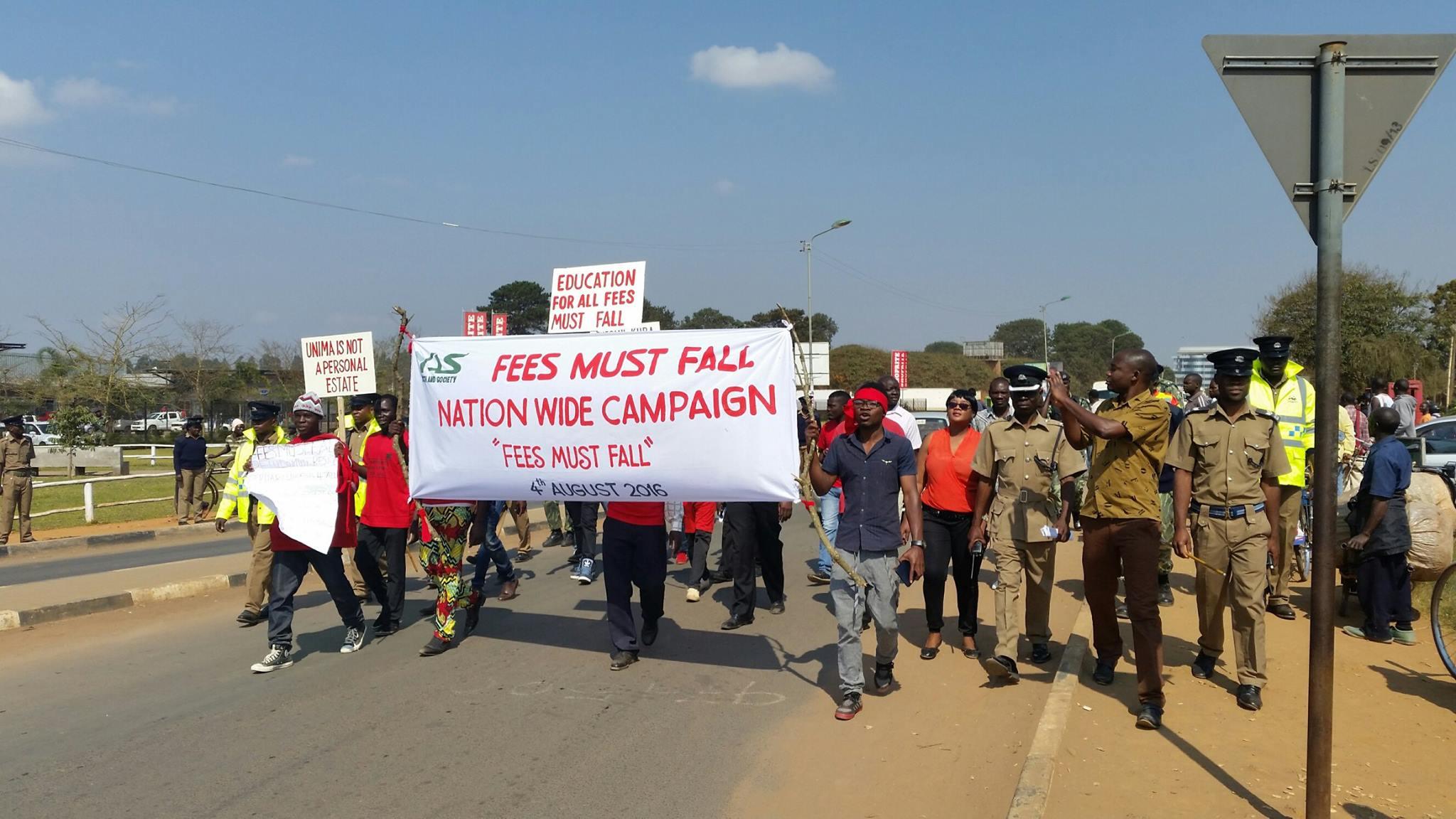 CSOs demonstrations against fee hike 2