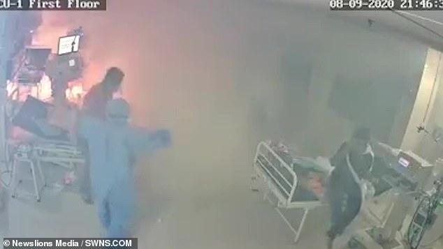 Ventilator bursts into flames on Covid ward in India 4