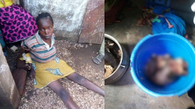 Horror As Woman Butchers Her 6-Month-Old Baby Into Small Pieces, Puts Them In Pot